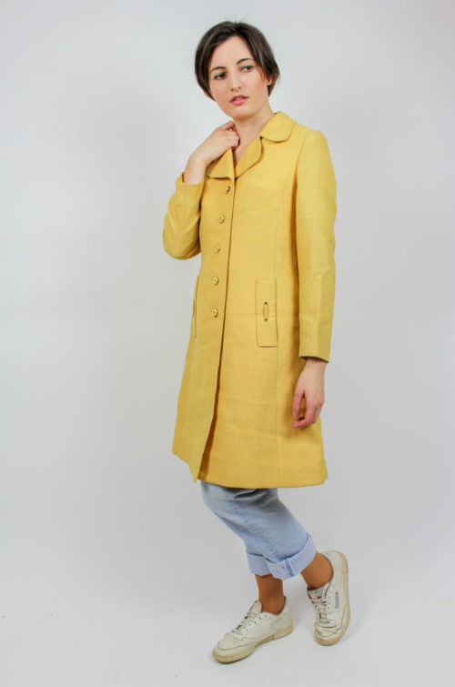 Vintage Mantel gelb