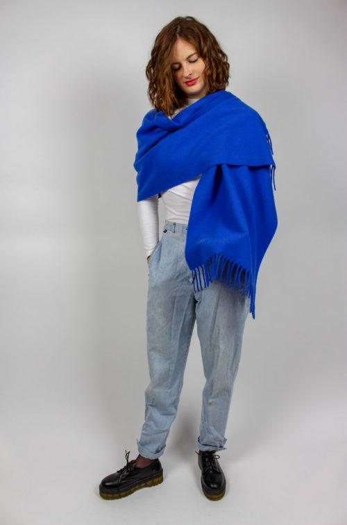 Vintage Schal blau