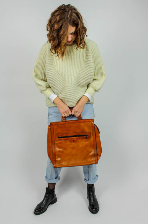 Vintage Shoppertasche braun
