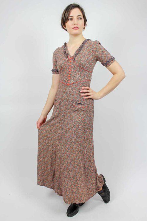 Vintage Sommerkleid maxi