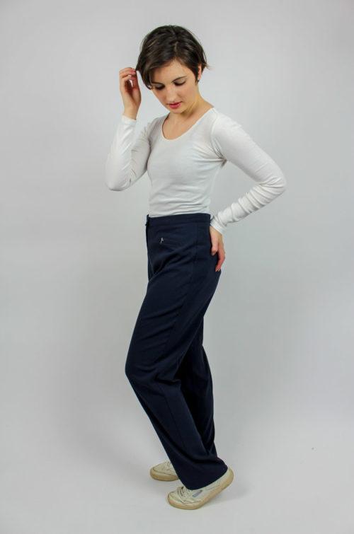 Vintage Stoffhose blau