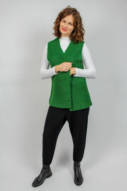 Vintage Strickweste grün