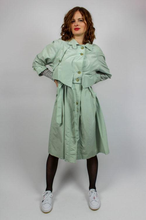 Vintage Trenchcoat grün