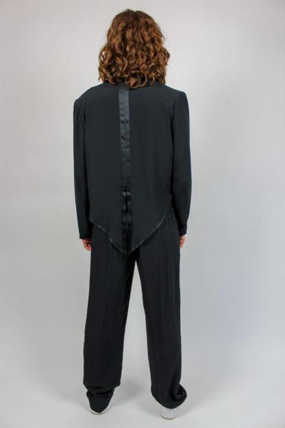 Zweiteiler Hose Jacke schwarz