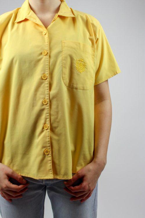 gelbe Bluse kurzarm