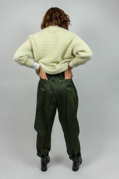 grüne High Waist Jeans Secondhand
