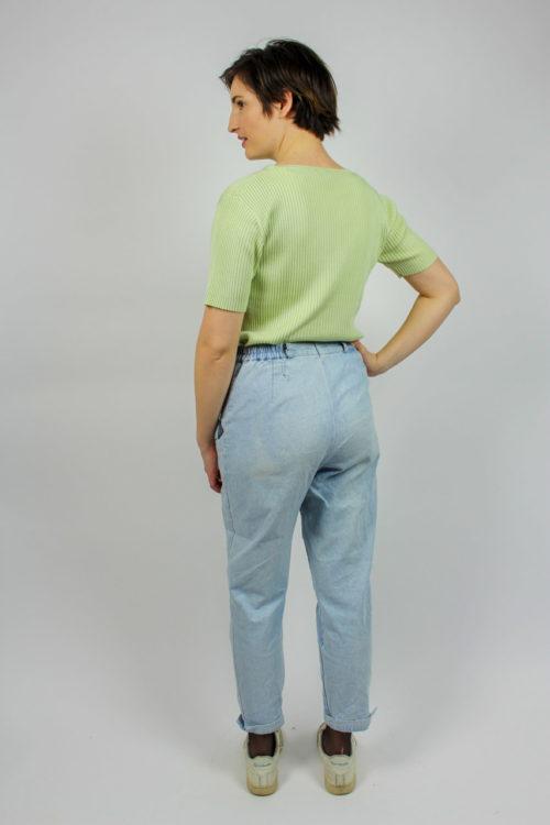 grüner Pullover kurzarm