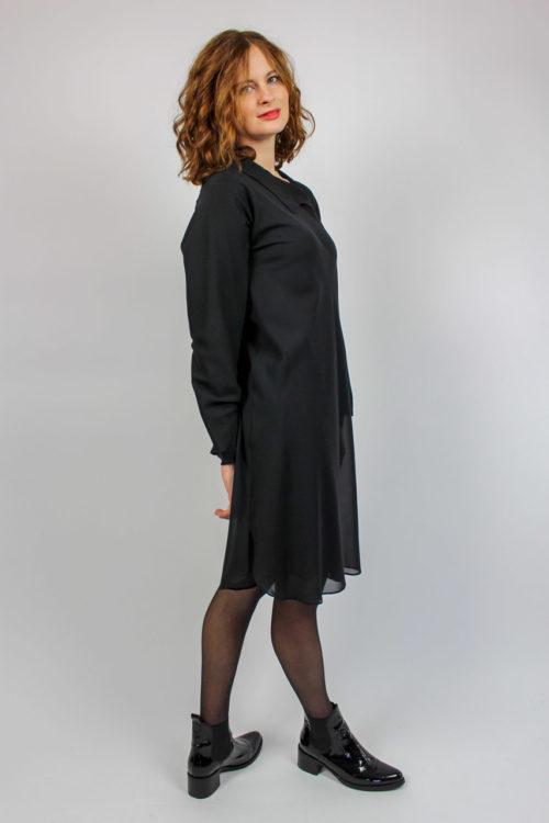 schwarzes Kleid Jil Sander