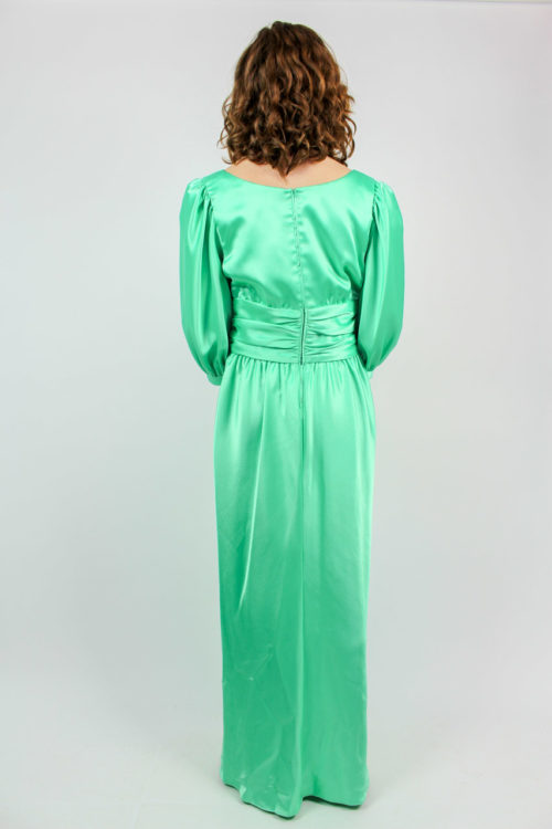 Abendkleid grün glänzend