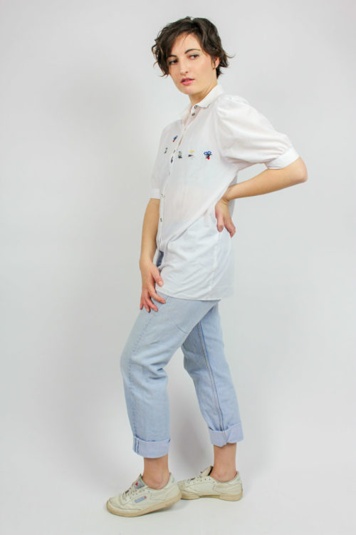 Bluse weiß Stickerei