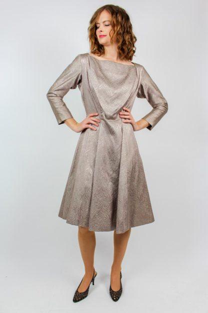 Kleid Midi rosa grau
