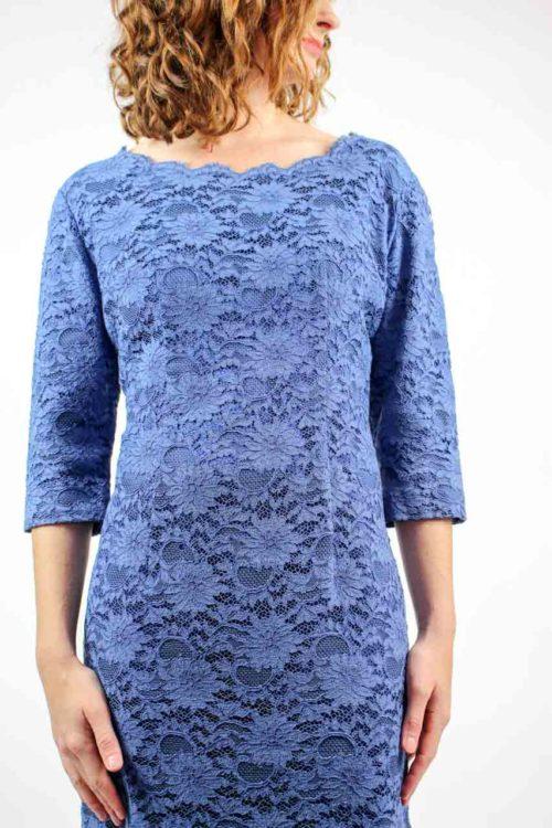 Kleid blau Spitze