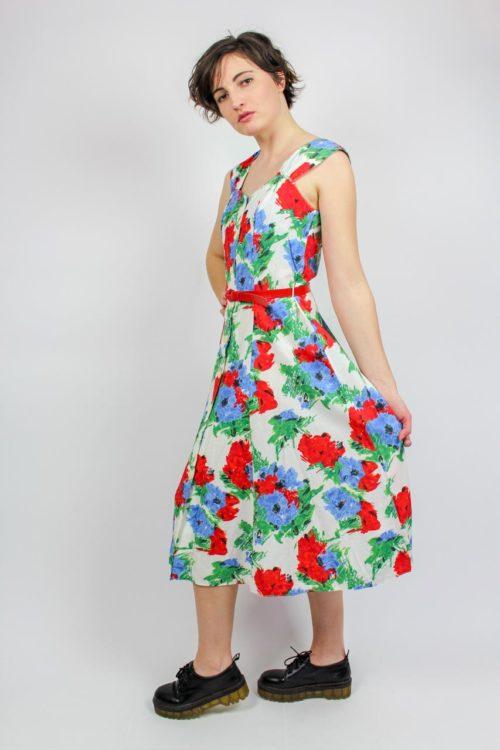 Kleid bunt ärmellos