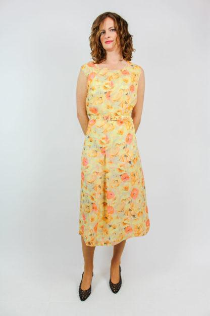 Kleid gelb orange Secondhand