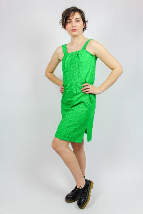 Kleid grün Blumenmuster
