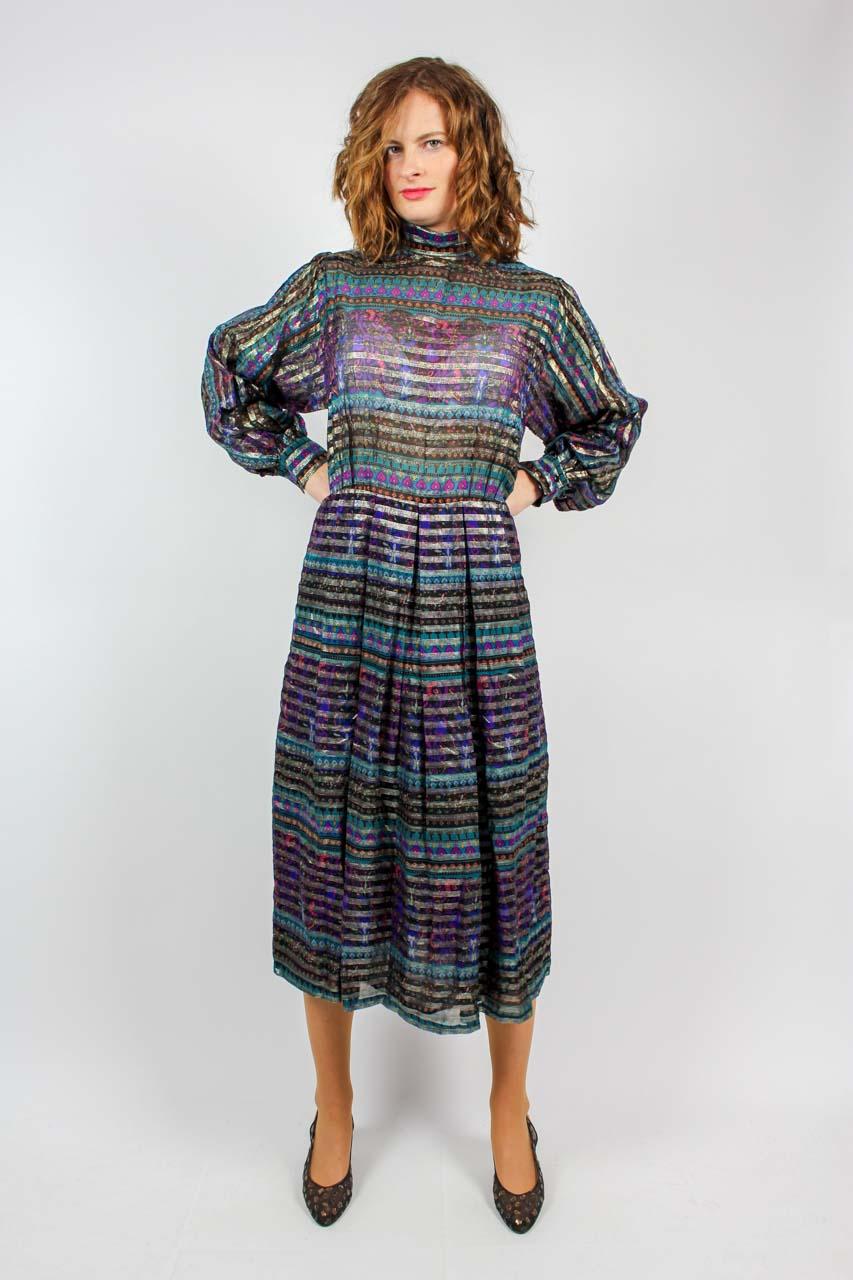 Kleid glitzer langarm