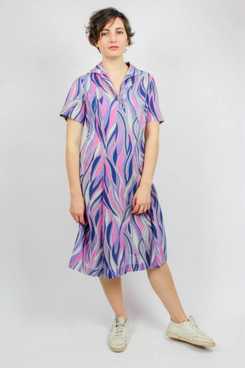 Kleid lila Muster