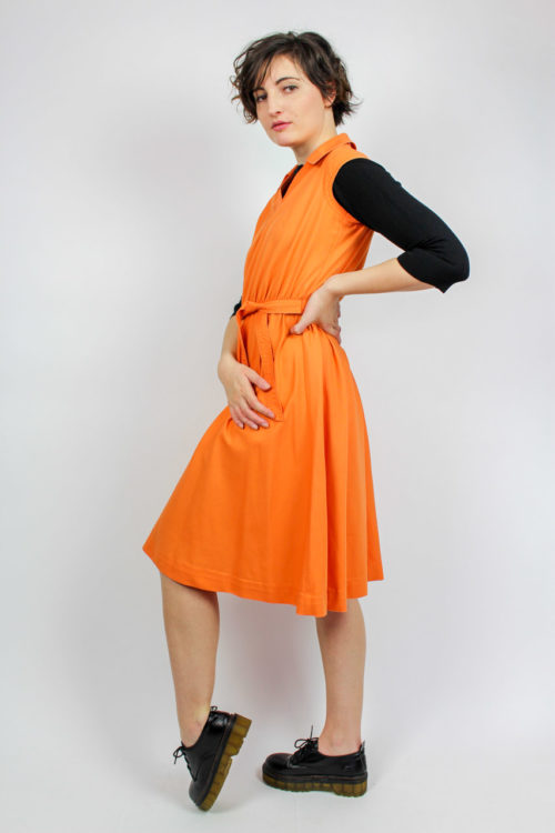 Kleid orange Secondhand