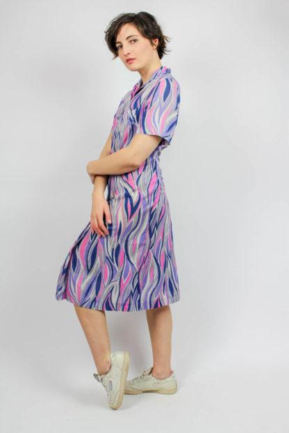 Kleid rosa, lila, blau