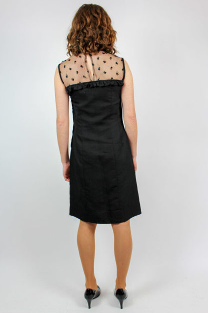 Kleid schwarz Rüschen