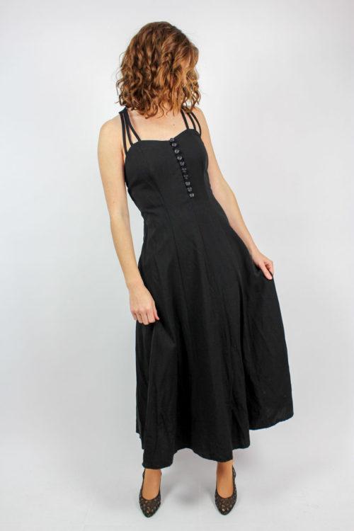 Kleid schwarz lang