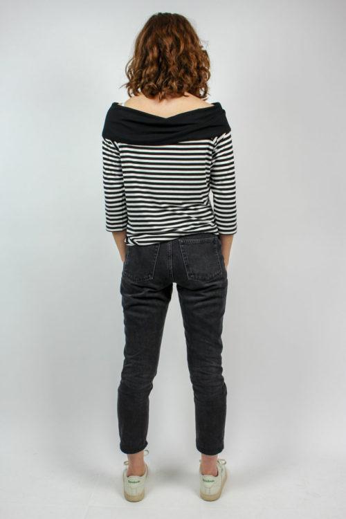 Streifenshirt schwarz weiß