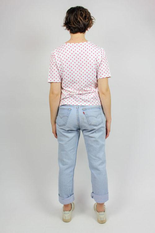T-Shirt weiß rosa