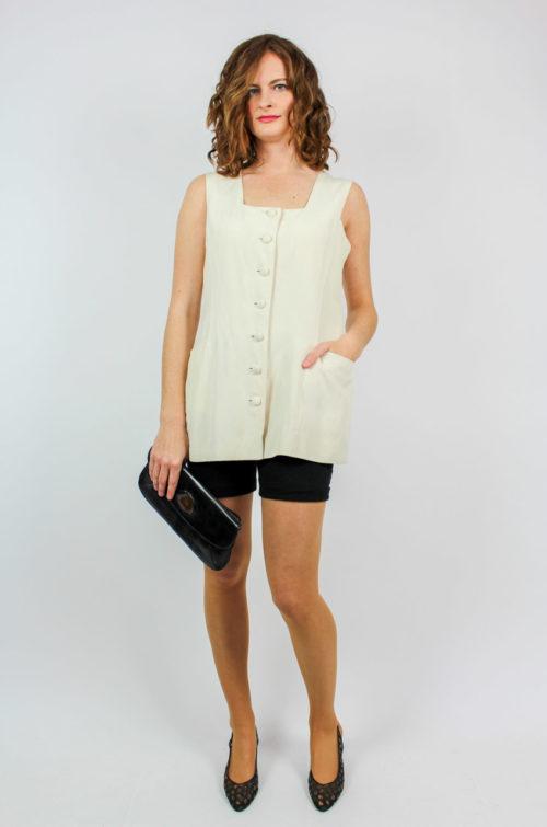 Vintage Bluse creme