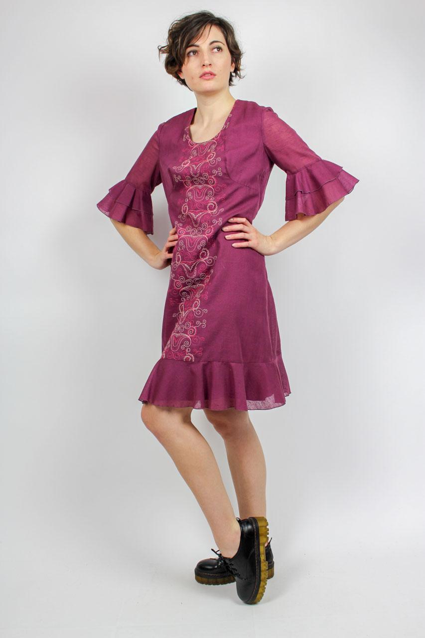 e73f066caefed Kleid lila Stickerei