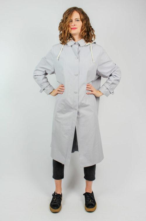Vintage Mantel grau