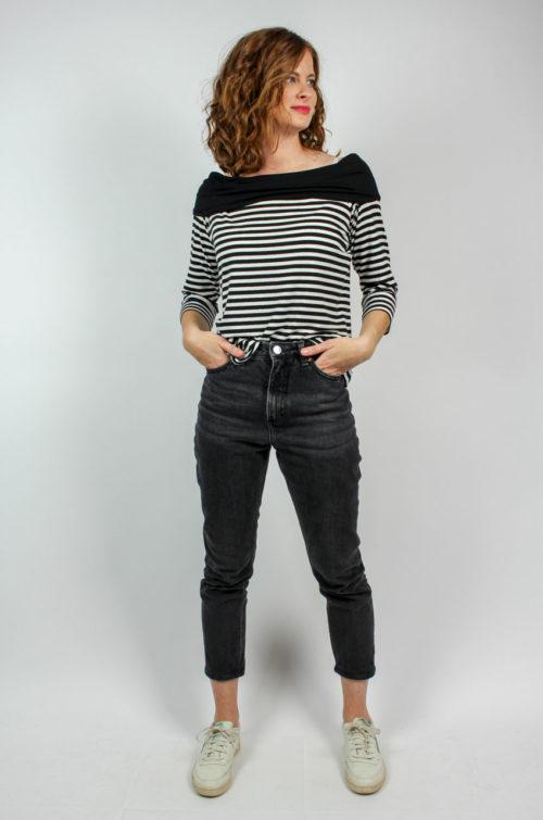 Vintage Shirt schwarz weiß