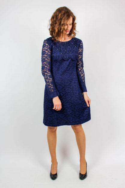 Vintage Spitzenkleid blau