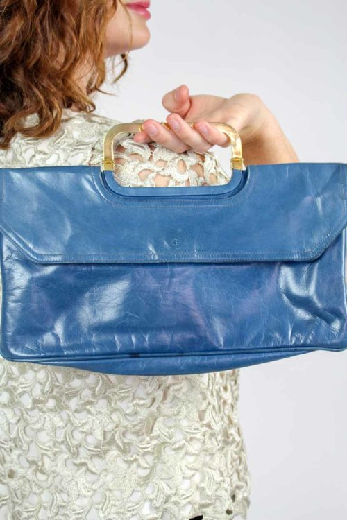blaue Tasche Bally
