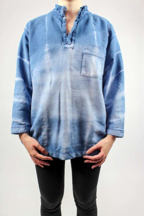blauer Pullover Secondhand