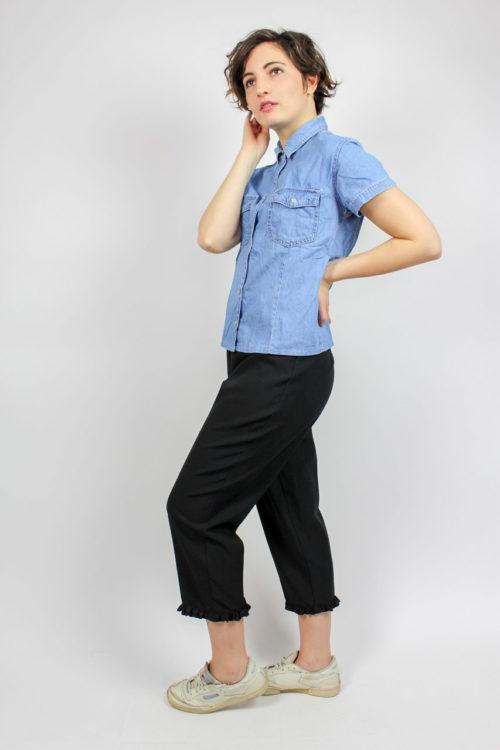 blaues Hemd kurzarm