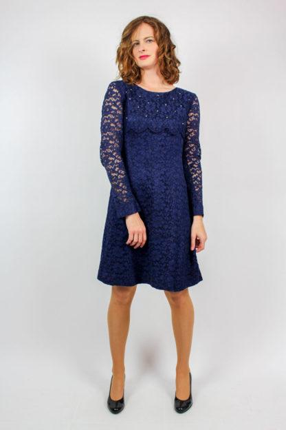 blaues Kleid Strasssteine