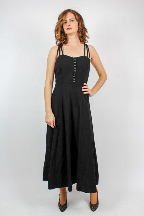 schwarzes Kleid ärmellos