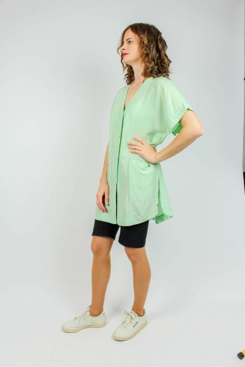 Bluse grün kurzarm