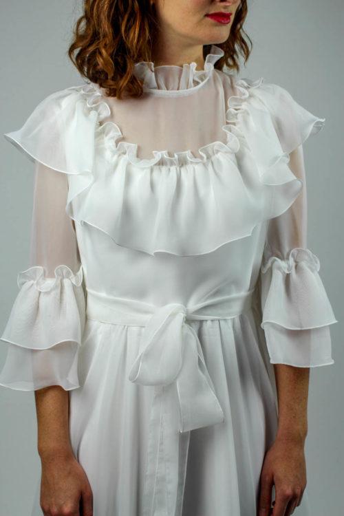 Brautkleid dreiviertel Ärmel