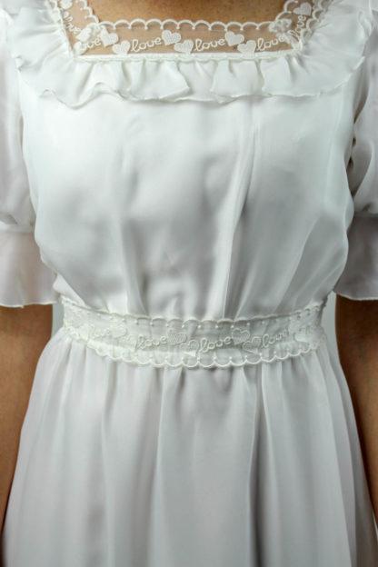 Brautkleid kurzarm weiß