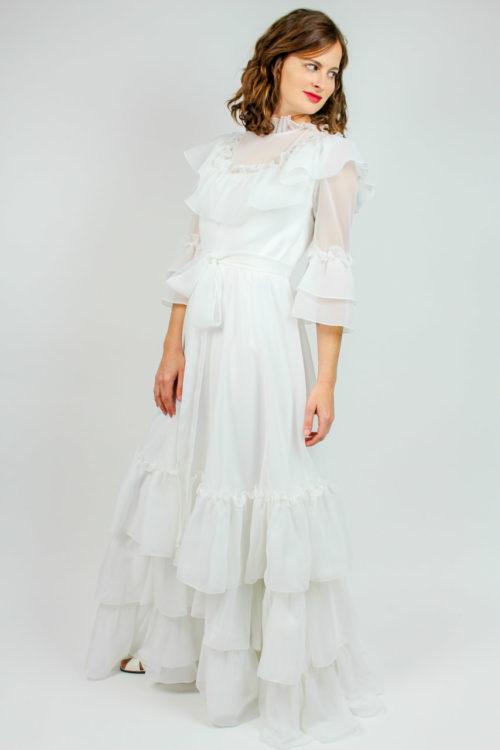 Brautkleid mit Voillant