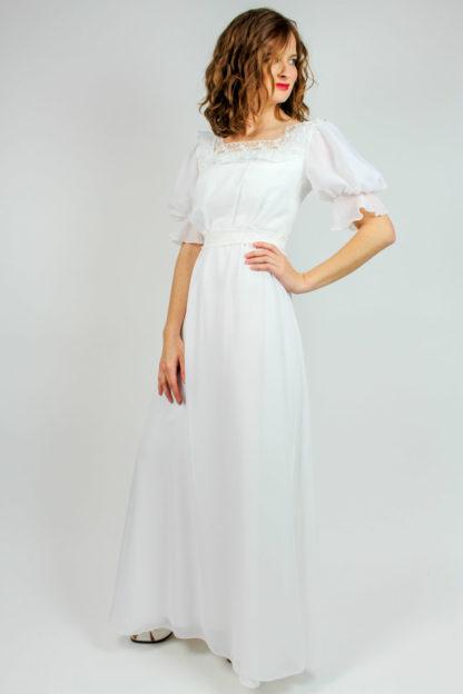 Brautkleid weiß bodenlang