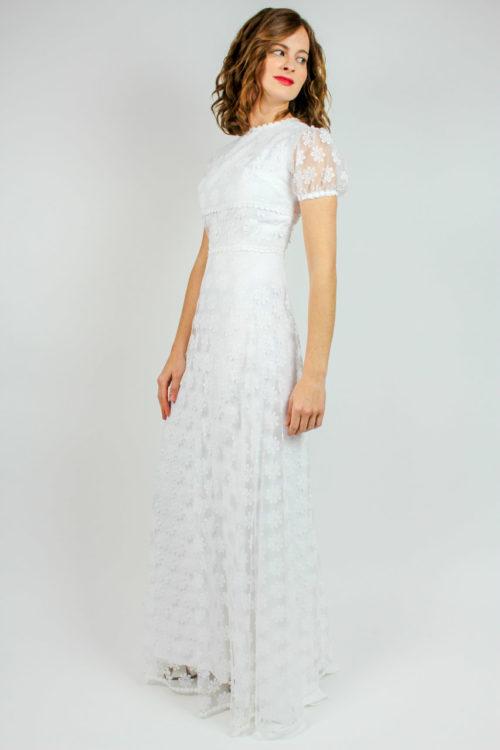Brautkleid weiß transparent