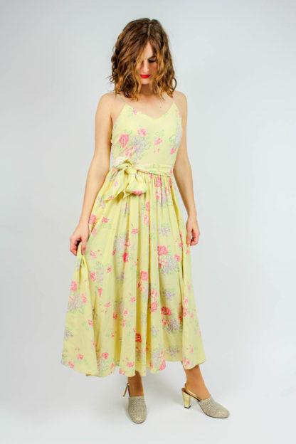 Kleid ärmellos Blumenmuster