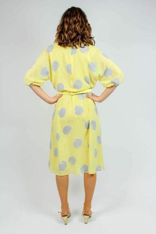 Kleid gelb Punktemuster