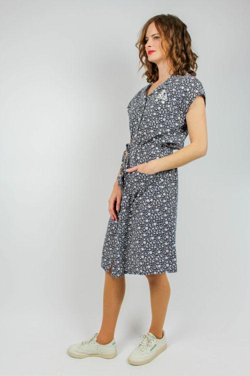 Kleid kurzarm mit Gürtel
