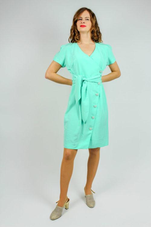 Kleid kurzarm neon