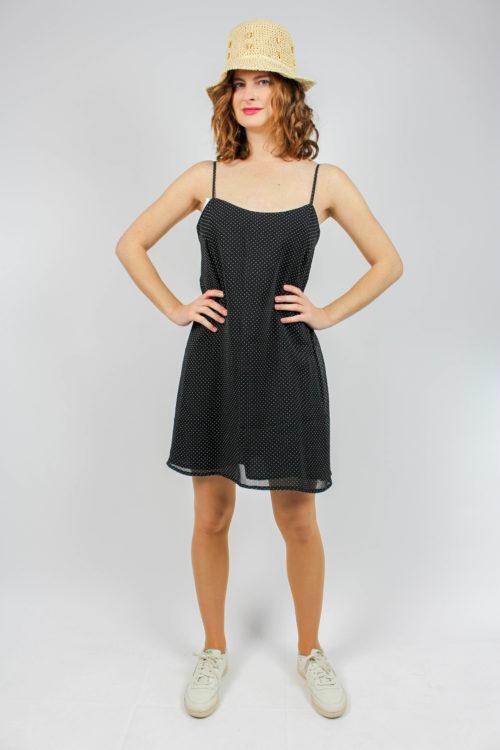 Kleid schwarz weiße Punkte