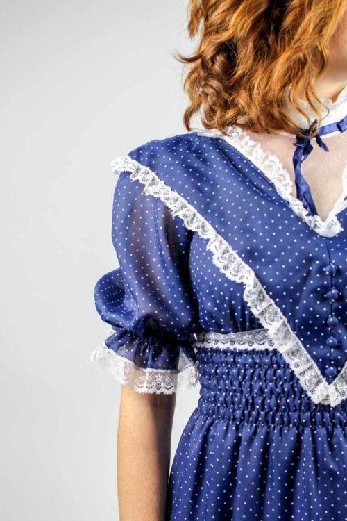 Kurzarmkleid blau