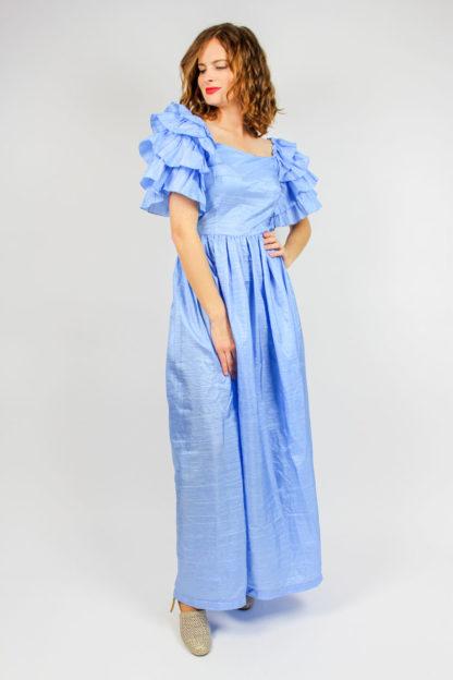 Maxikleid blau